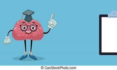 Funny and cute brain cartoon HD animation - Funny brain...