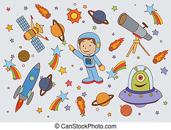 Funny and Cute Planet Space set
