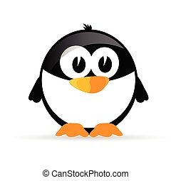 funny and sweet penguin vector illustration