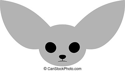 funny animal with big ears