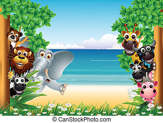 funny animals cartoon