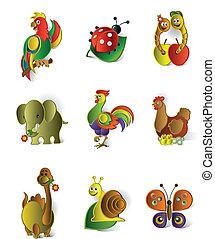 Funny animals set