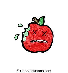 funny apple cartoon character