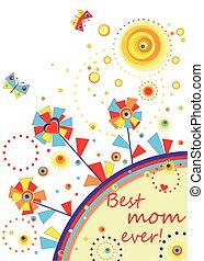 Funny applique for mom