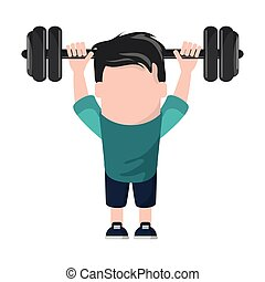 Funny Avatar man with barbell