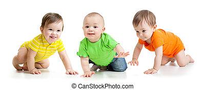 funny babies crawling