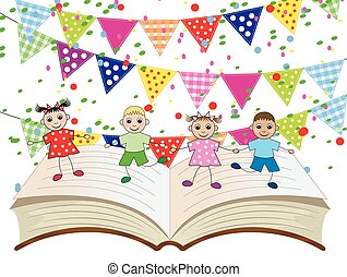 funny babies dancing on the pages