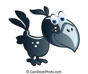 baby crow cartoon