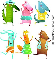 Funny Baby Dancing Animals Collection - Cartoon for children...