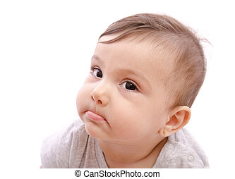Funny baby expression