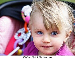 Funny baby girl