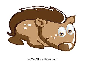 baby hedgehog cartoon