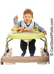 Funny  baby in a walker