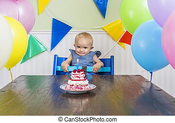 Funny baby's first birthday