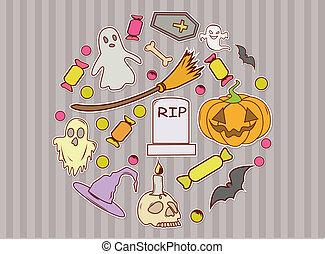 Funny Background Halloween Design