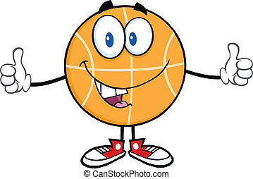 Funny Basketball Cartoon Character