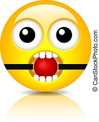 Funny bdsm emoji vector cartoon
