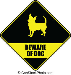 """funny """"beware of dog"""" sign - vector"""