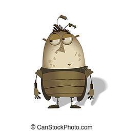 funny big bug cartoon