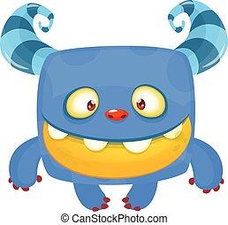 Funny bigfoot or yeti character design. Vector illustration