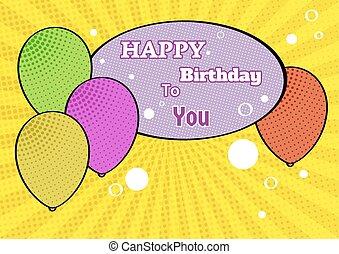birthday poster background