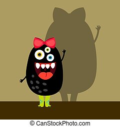 Funny black girl monster