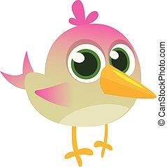 Funny blue bird cartoon