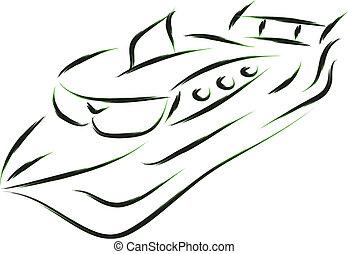 funny boat sketch