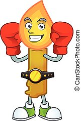 Funny Boxing gold candle cartoon character style