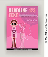 Funny Boy vector poster design