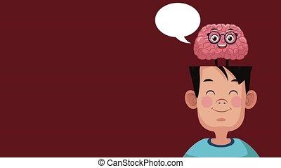 Funny brain cartoon HD animation - Funny brain cartoon...