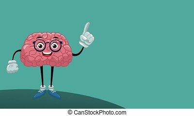 Funny brain cartoon HD animation - Funny brain cartoon with...