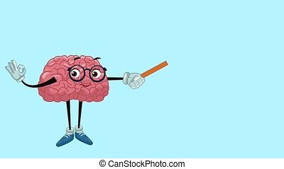 Funny brain cartoon HD animation