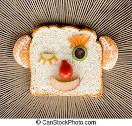 Funny bread face