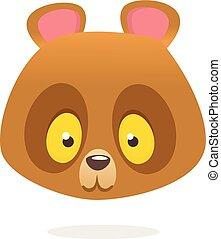 Funny brown teddy bear cartoon