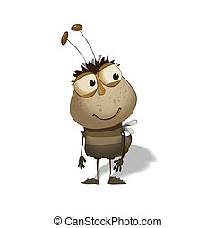funny bug cartoon