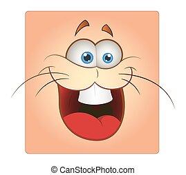 Funny Bunny Face Smiley Vector