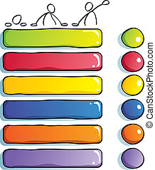 Funny Buttons with guys - painted Buttons for children's web...