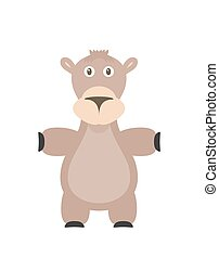 Funny camel character - Camel illustration as a funny...
