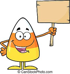 Candy Corn Cartoon Character