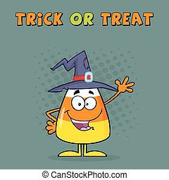 Funny Candy Corn With A Witch Hat