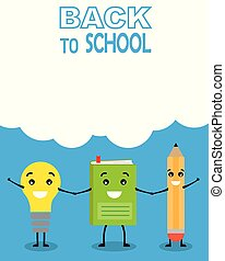 Funny card back to school