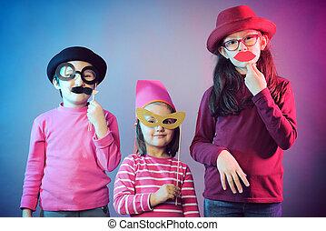 funny carnival portrait