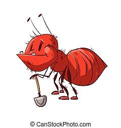 Funny cartoon ant