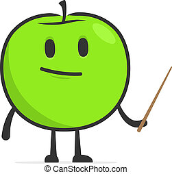 funny cartoon apple