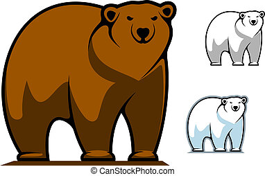 Funny cartoon bear mascot