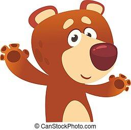 Funny cartoon bear.