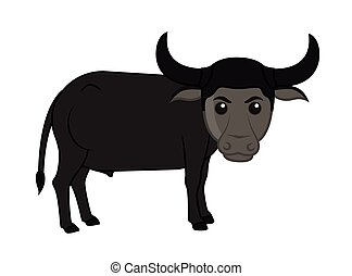 Funny Cartoon Buffalo