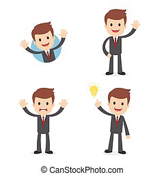 Funny Cartoon Businessman in a Suit