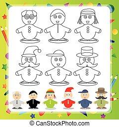 Funny cartoon character - Vector illustration